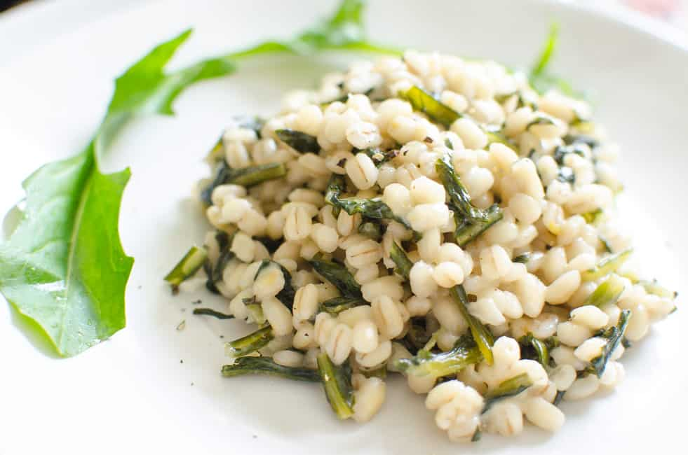 Orzotto with Dandelion Greens and Mascarpone Cheese | veryEATalian-8