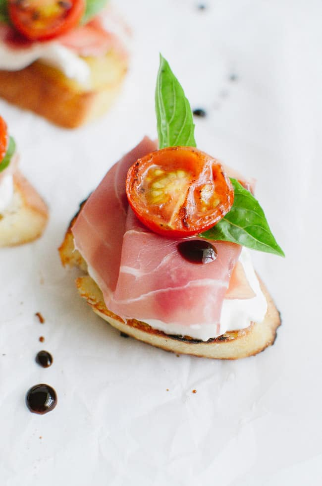 Burrata And Prosciutto Crostini