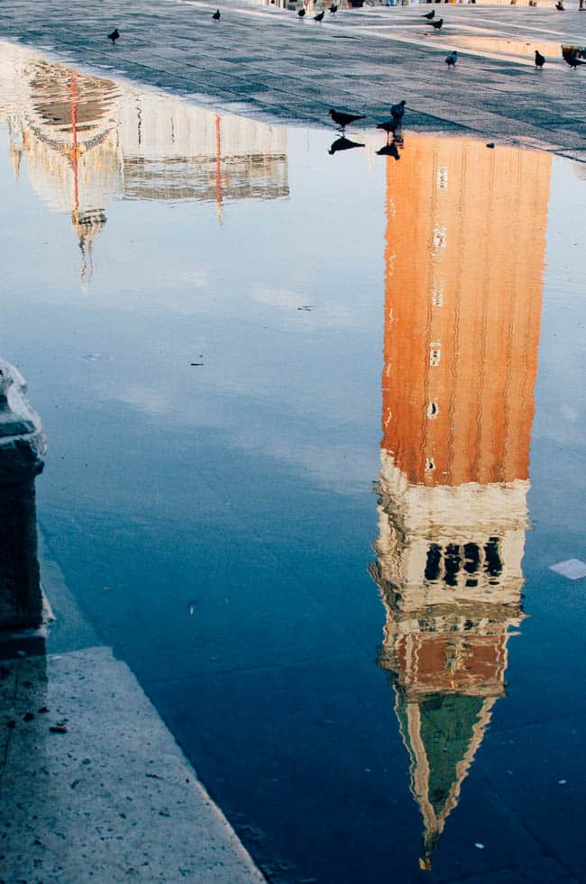 Day trip to Venice: water reflections at St. Mark's square | veryEATalian