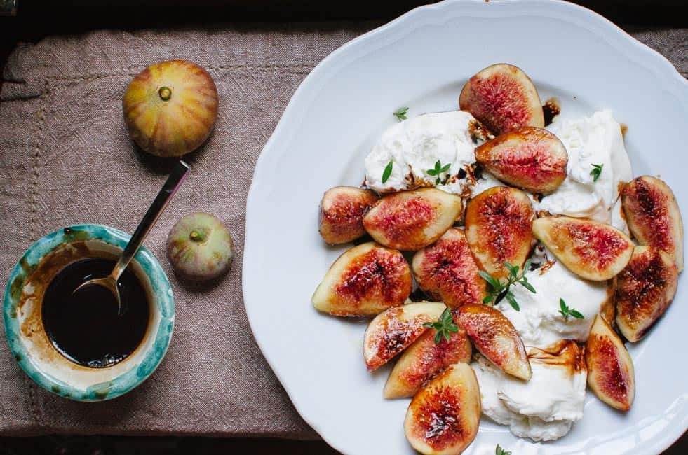 Figs, burrata cheese, and balsamic reduction | veryEATalian