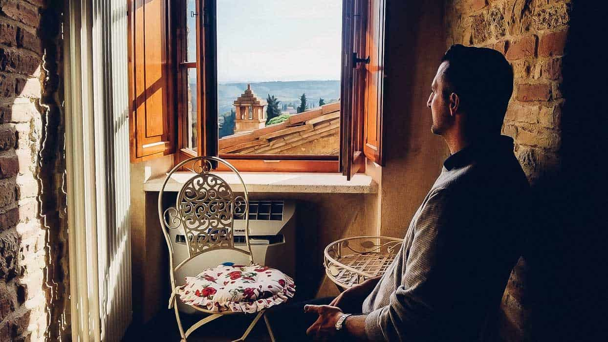 My trip in Tuscany: we loved the view from our room in San Gimignano| Very EATalian