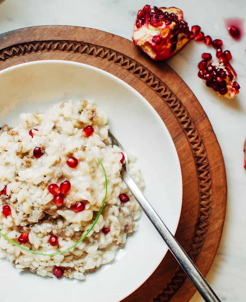 Pomegranate Sausage Risotto | Very EATalian
