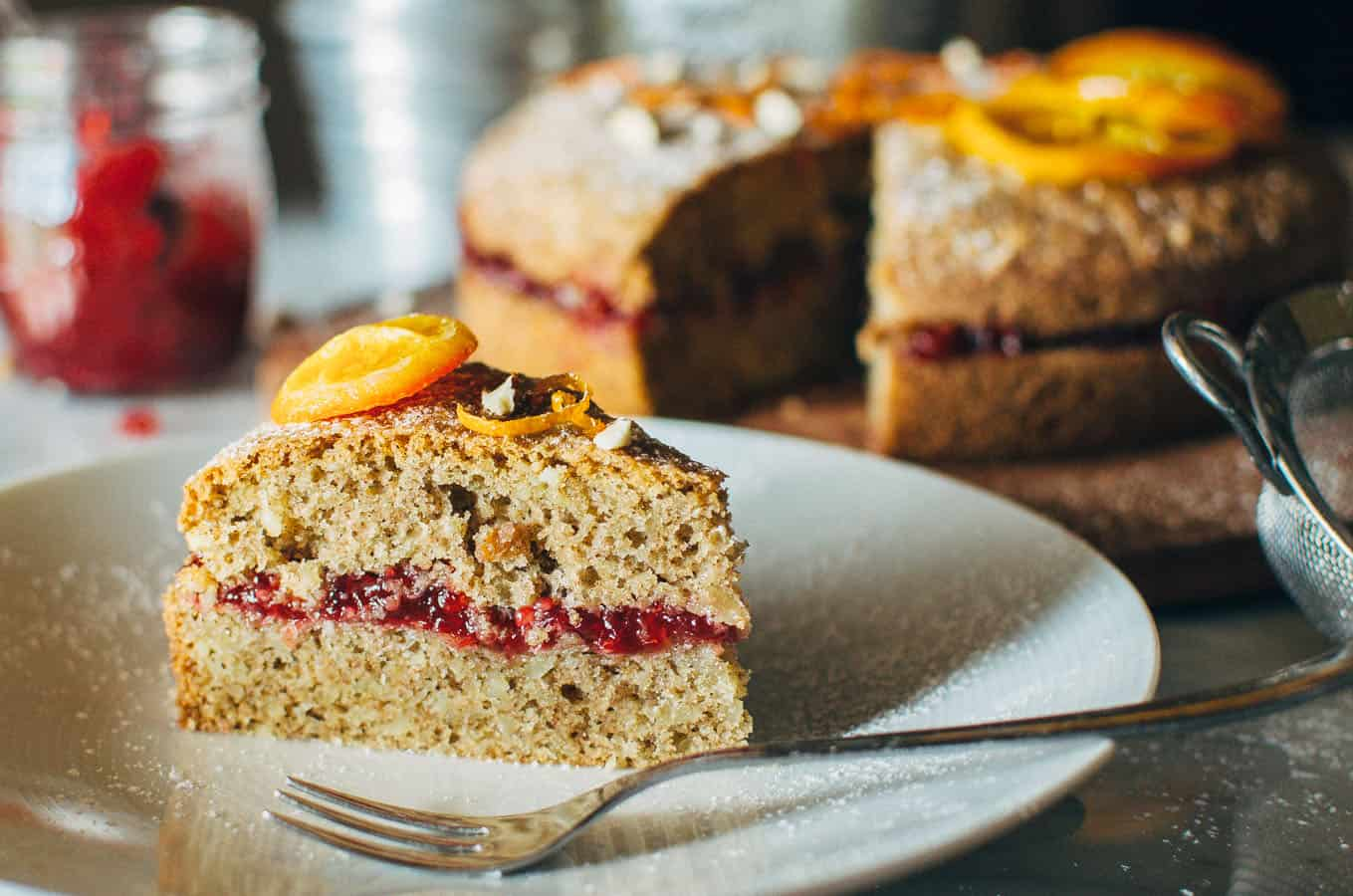 Gluten-free Red Berry Almond Buckwheat Cake | Very EATalian