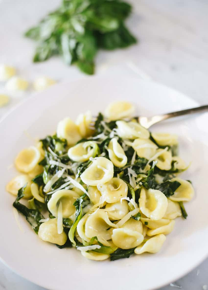 Cat's Ear Greens and Asiago Cheese Orecchiette | Very EATalian