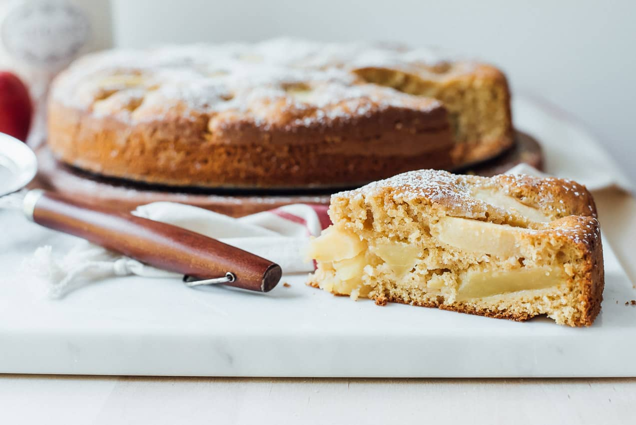 Apple Cake With Nuts In A Bundt Pan